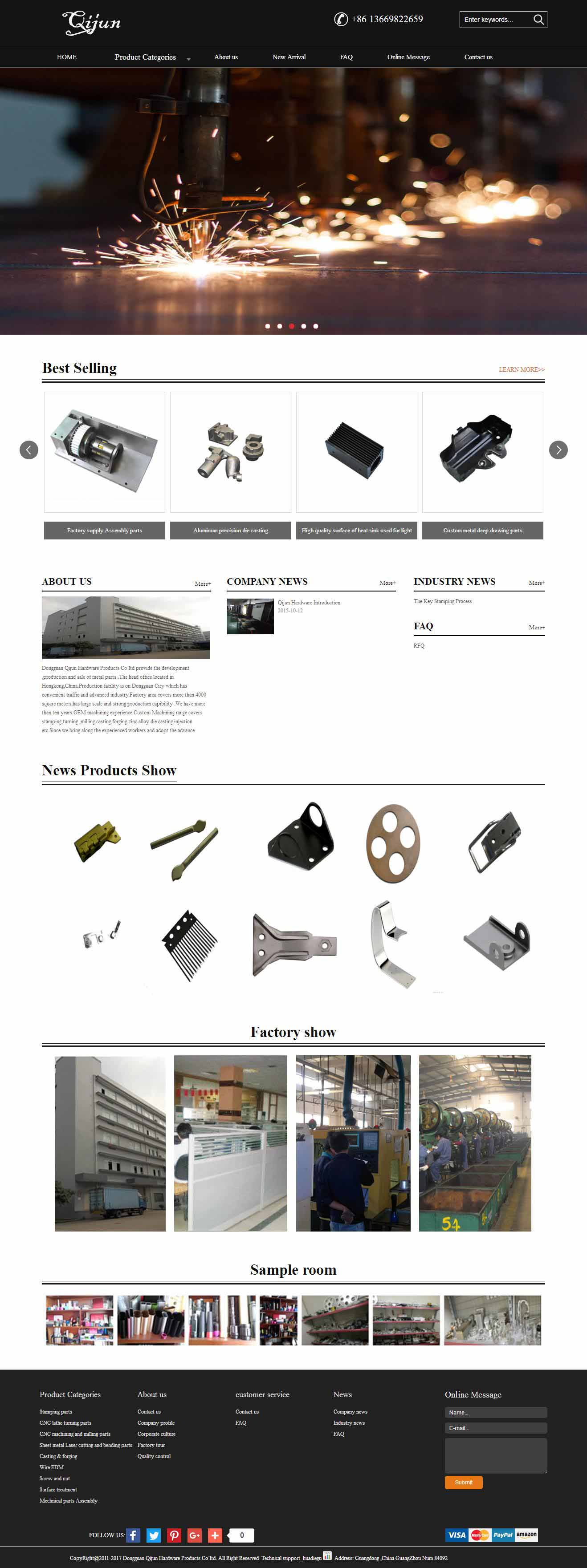 Dongguan Qijun Hardware Products Co'ltd