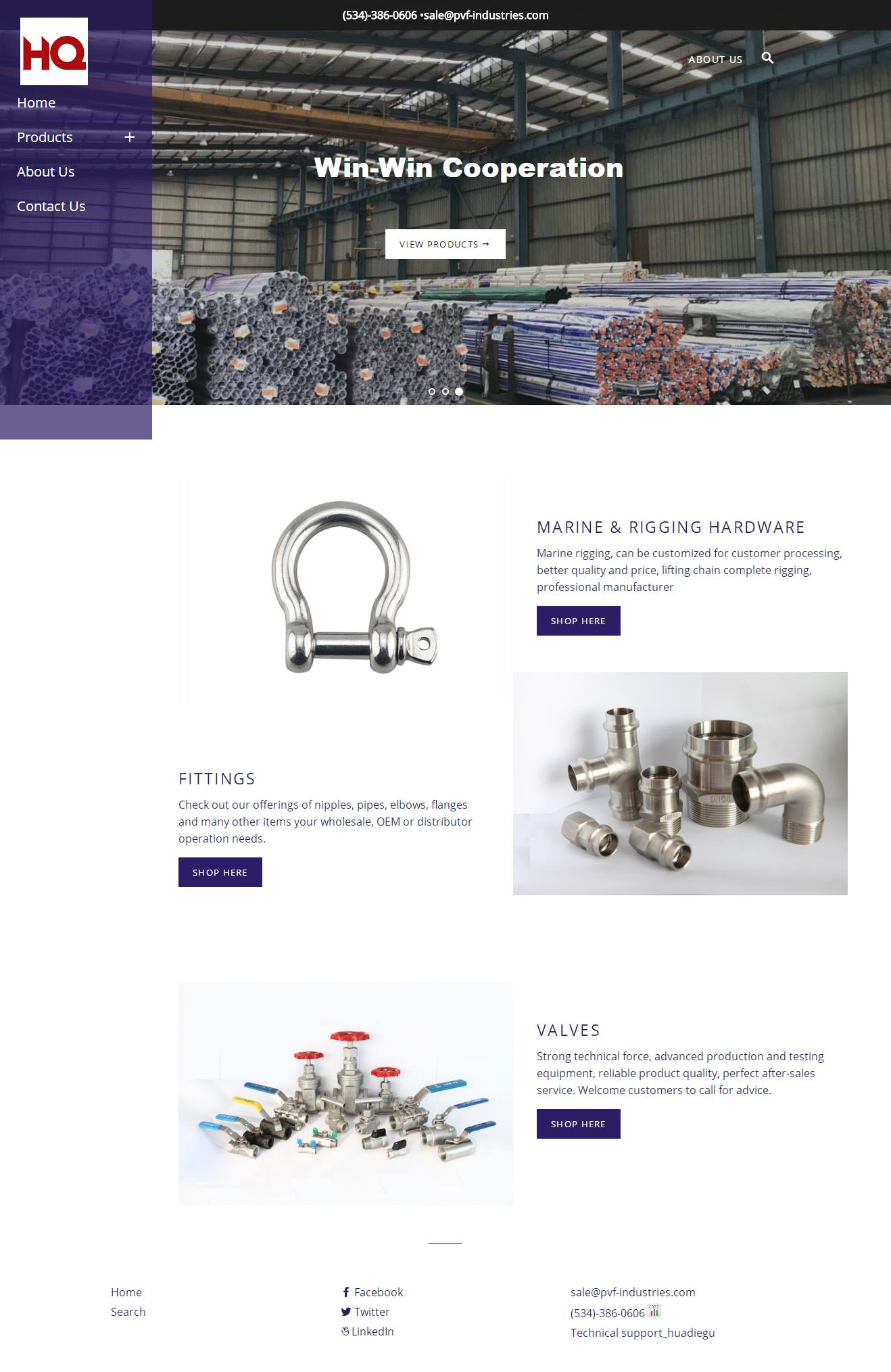 HQ Valves And Fittings Mfg Co.